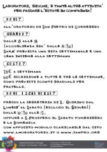 GREST 2014 Scuole MEDIE - Correggio - Come Iscriversi