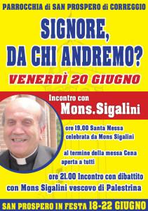 Incontro con Mons. Sigalini al Sanpro in Festa 2014
