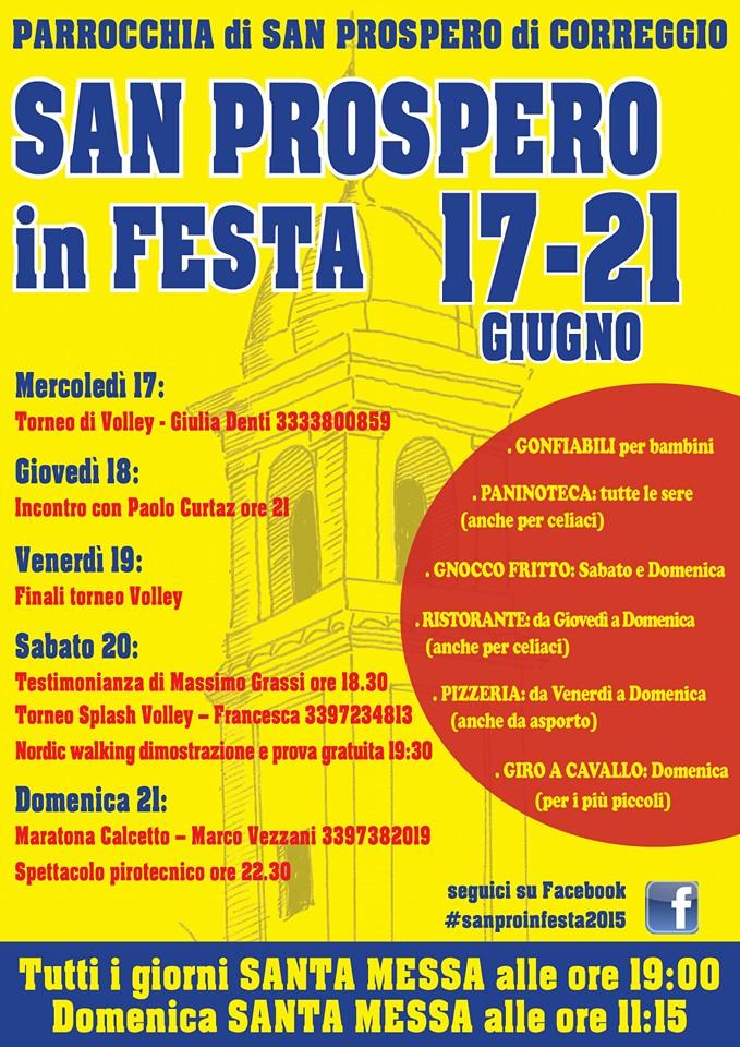 Sanpro in festa e Promemoria dal 14 al 21 giugno 2015