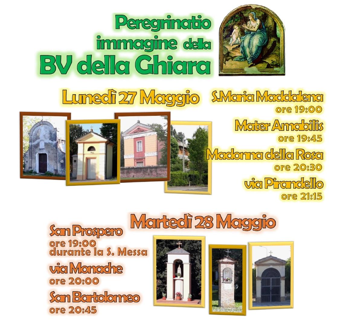 Pellegrinaggio Immagine della Madonna della Ghiara nei centri del rosario
